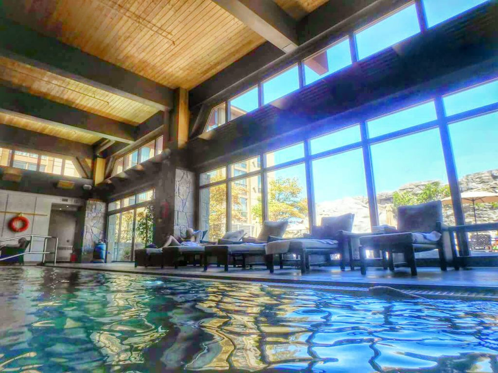 The pool - with the windows to the rooftop patio. Credit Ann Bacciaglia