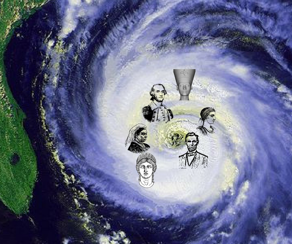 hurricane with figures from history in it